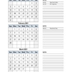 Free Download 2021 Excel Calendar, 3 Months In One Excel