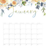 Free Printable 2021 Floral Drop Calendar - The Cottage Market