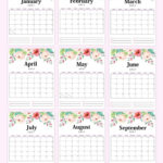 Free Printable Calendar 2021 In Pdf: Beautiful Florals With