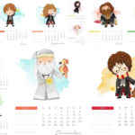 Harry Potter Free Printable 2021 Calendar. - Oh My Fiesta