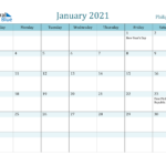 January 2021 Calendar - Philippines