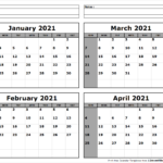 January-February-March-April-2021-Calendar-To-Print - All 12