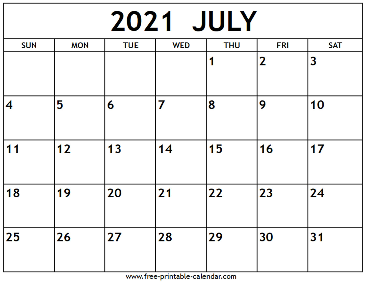 Free Printable Calendar July 2021 June 2021 | Free 2021 ...