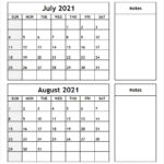 July-August-2021-Printable-Calendar - All 12 Month Calendar
