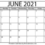 June 2021 Calendar | Blank Printable Monthly Calendars