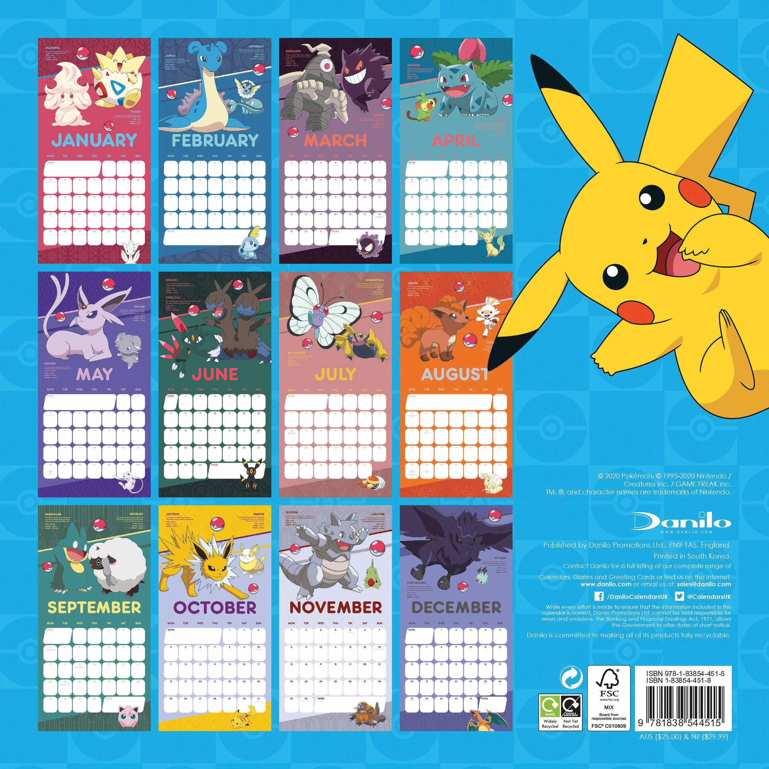 Pokémon Official Calendar 2021 At Calendar Club