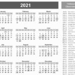 Printable 2021 Calendar With Holidays In 2020   Monthly
