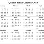 Printable 2021 Julian Calendar In 2020 | Calendar Template