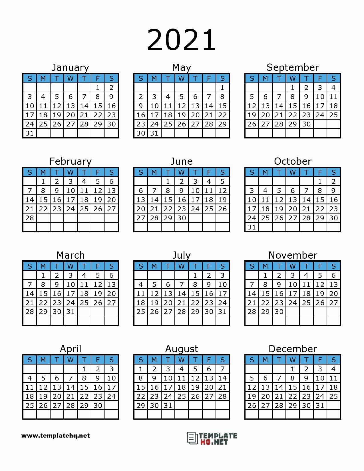 Printable Calendar 2021 In 2020 | Calendar Printables, 2021