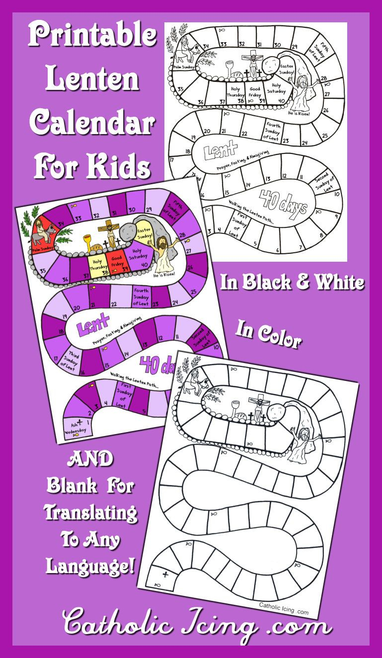 Printable Lenten Calendar For Kids (Free!) | Lenten