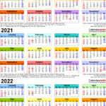 Template 3: Word Template For Three Year Calendar 2020-2022