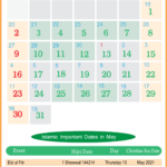 2021 Islamic Calendar May - Key Dates Within The Islamic