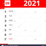 Calendar Planner For Week 09 In 2021, Ends March 7, 2021