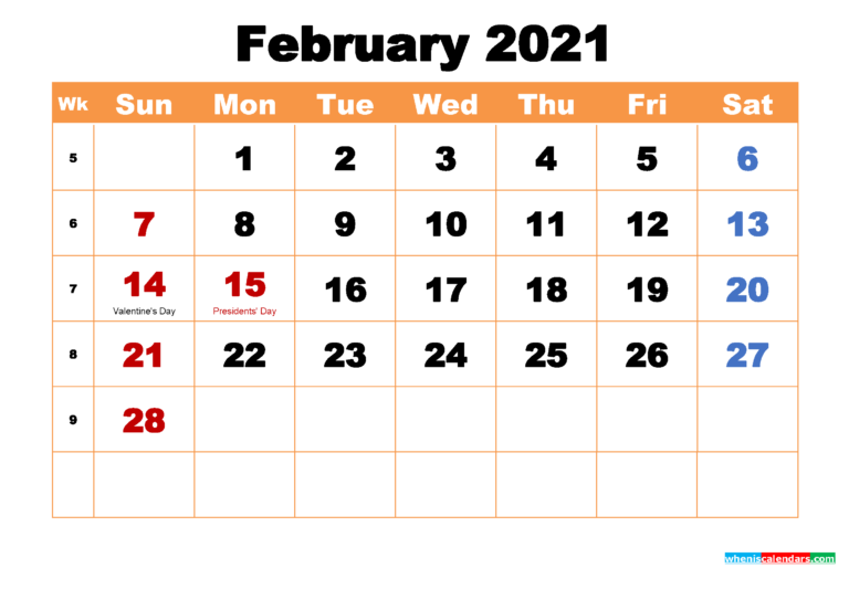 February 2021 Calendar Wallpapers - Top Free February 2021