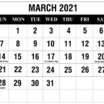Free March 2021 Printable Calendar Template In Pdf, Excel