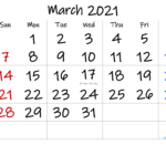 Free Printable March 2021 Calendar With Holidays In 2021