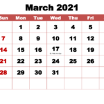 March 2021 Calendar Wallpapers - Top Free March 2021