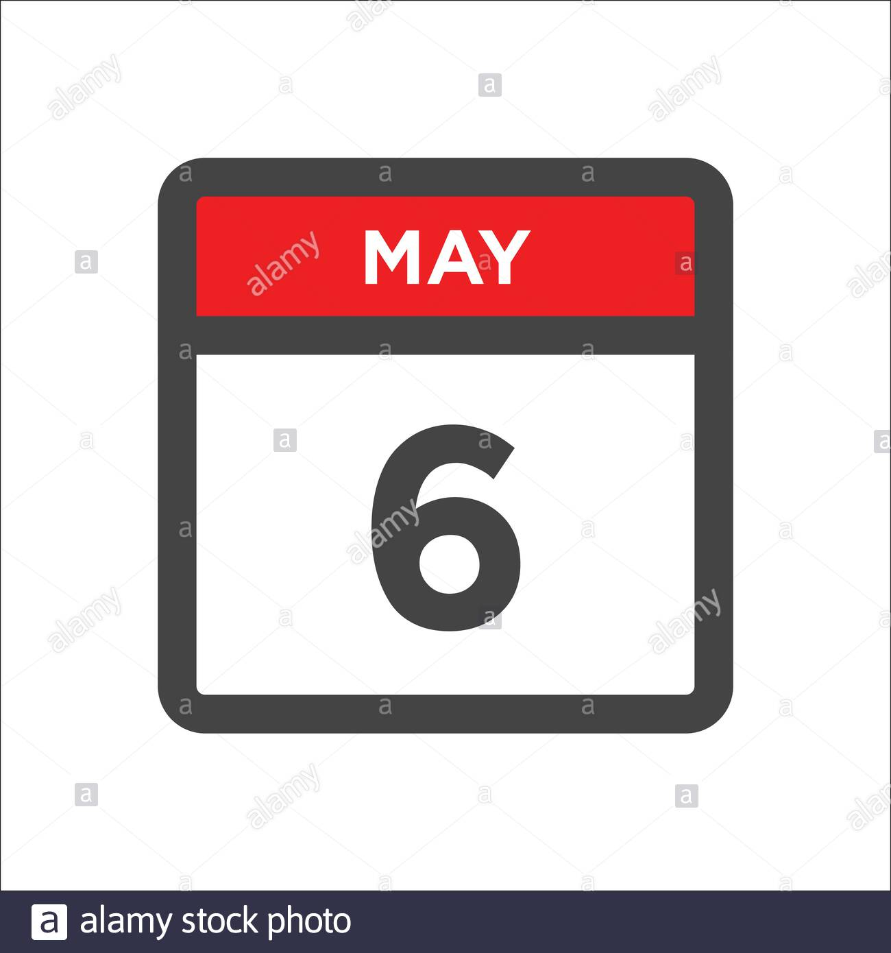 May 6 Calendar Icon - Day Of Month Stock Vector Image & Art