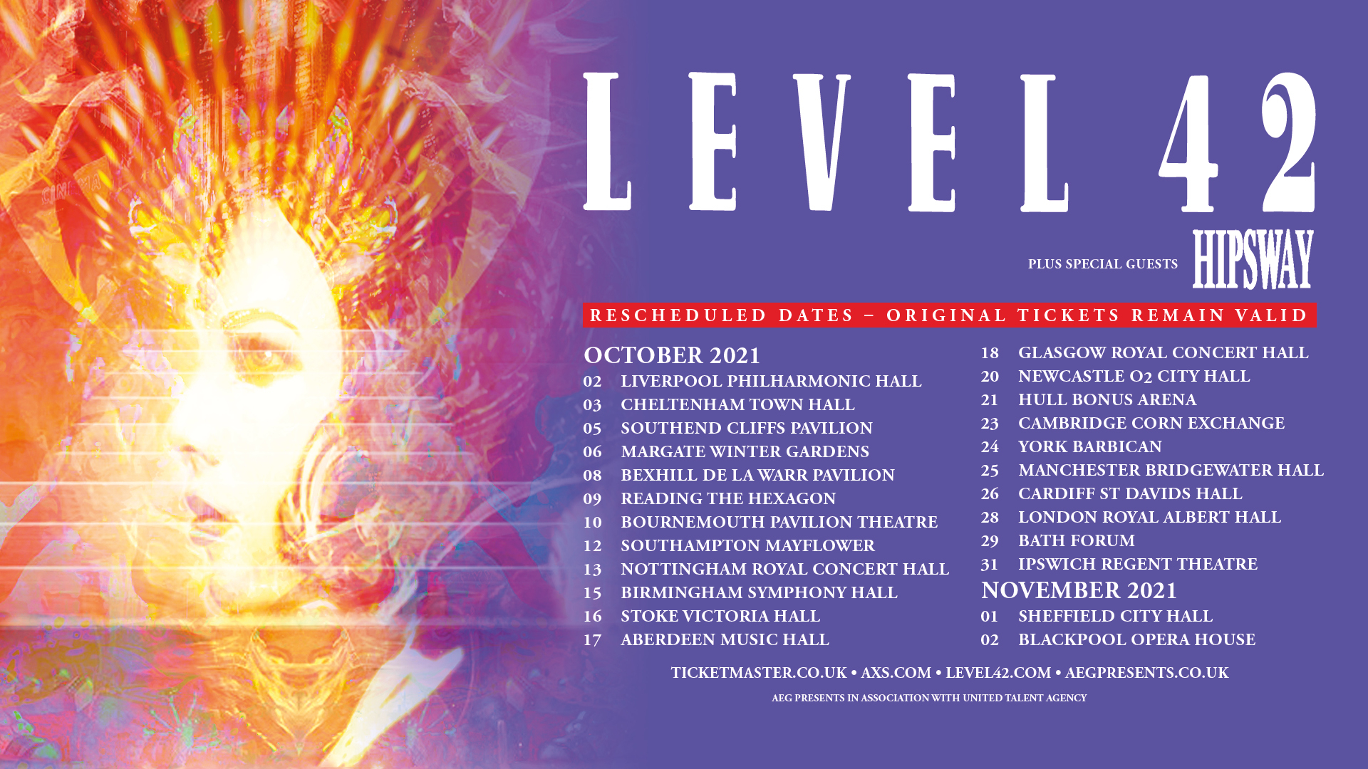 New Uk Dates For 2021 – Level42