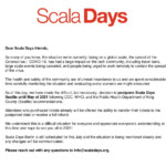 """Scala Days On Twitter: """"we're Sorry To Announce That"""