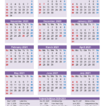 School Calendar 2020 And 2021 Printable (Portrait)- Template