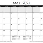2021 Calendar Templates And Images Monthly Calendar