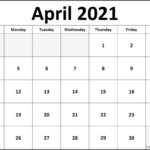 April 2021 Calendar Free Printable Monthly Calendars