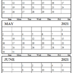 April To 2021 June Calendar Free Editable 2021 Calendar