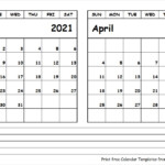 Calendar 2021 March And April United States Map
