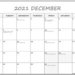 Free 2021 Monday To Sunday Calendar Printable Calendar