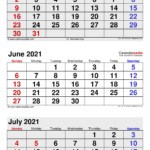 June 2021 Calendar Templates For Word Excel And PDF