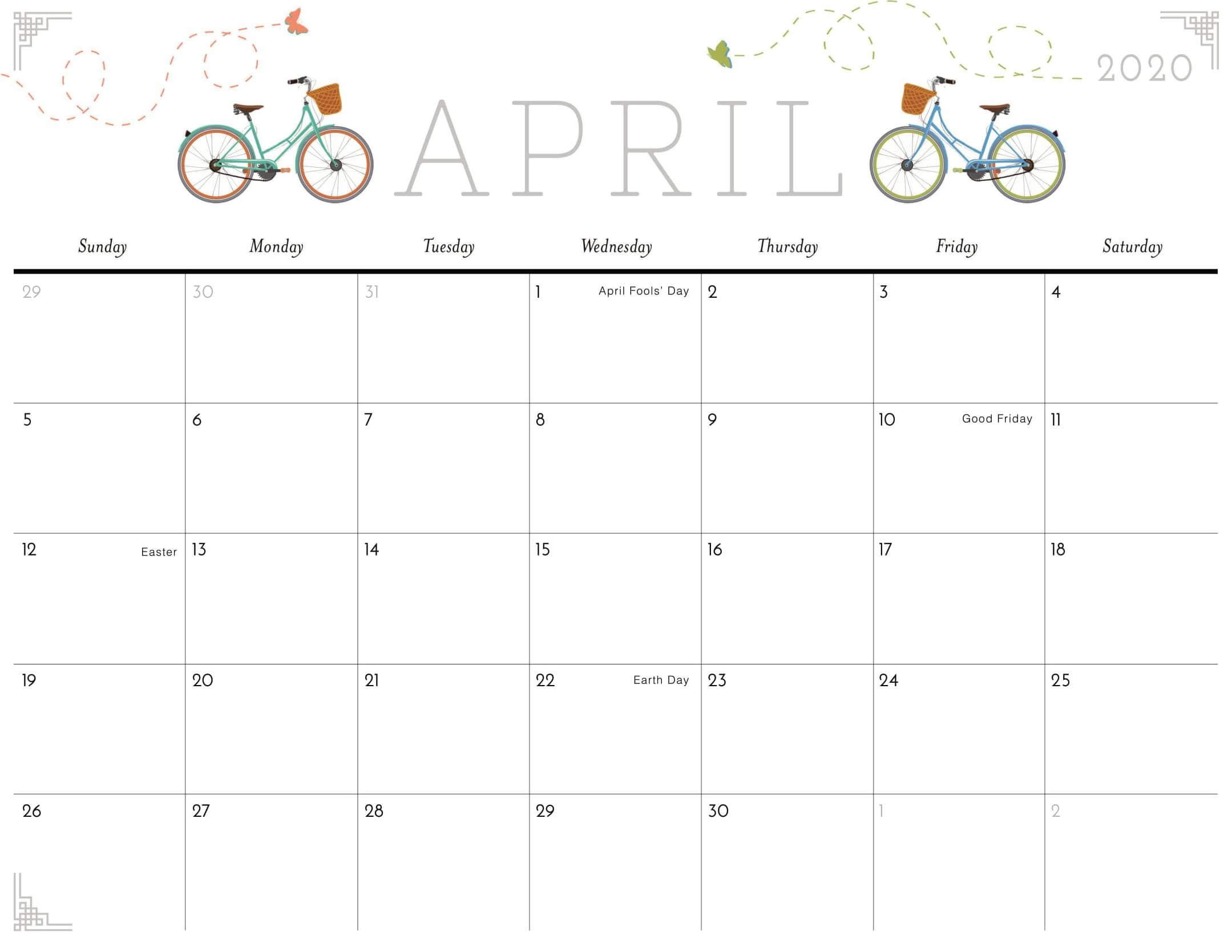 printable march and april calendars