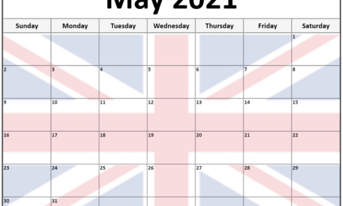 Collection Of May 2021 Photo Calendars With Image Filters