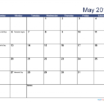 Free Download Printable May 2019 Calendar With Holidays