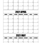 March To May 2021 Calendar With Holidays Free Printable