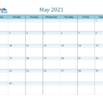 May 2021 Calendar PDF Word Excel