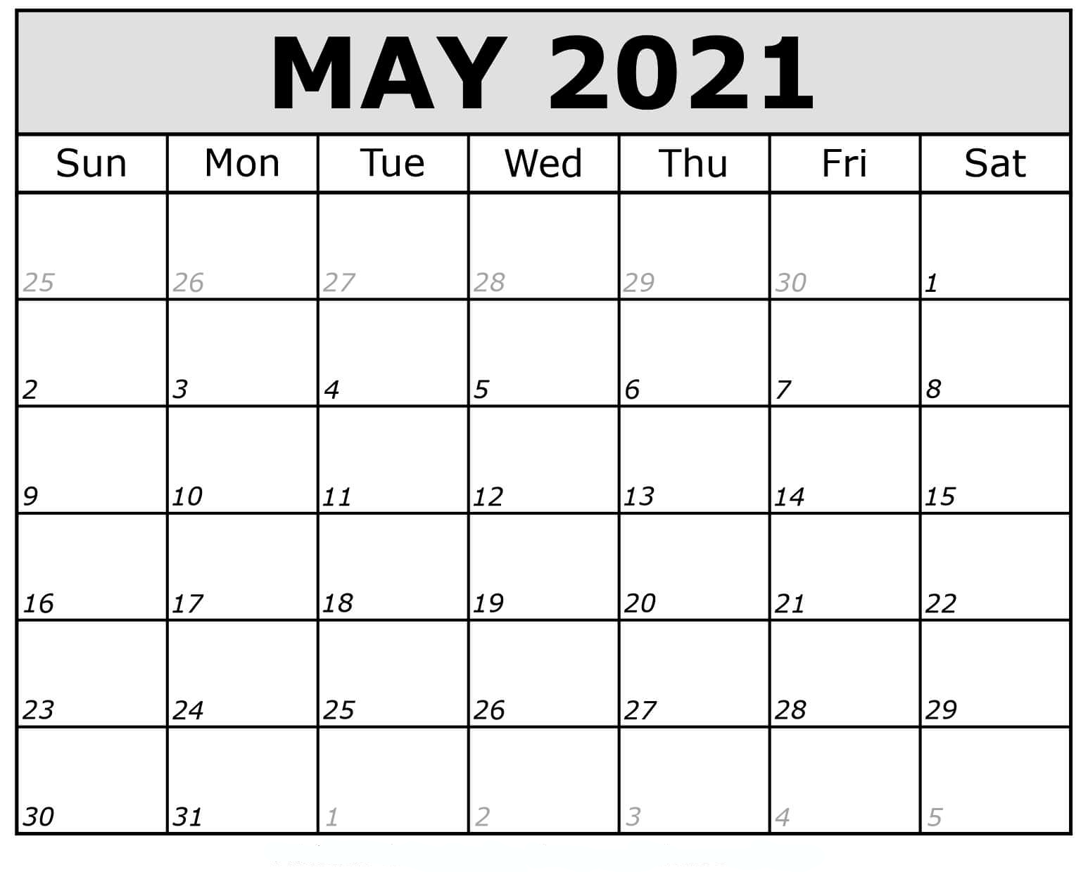 May 2021 Calendar With Holidays Thecalendarpedia