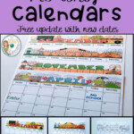 Monthly Calendar Editable Template 2019 2022 Monthly