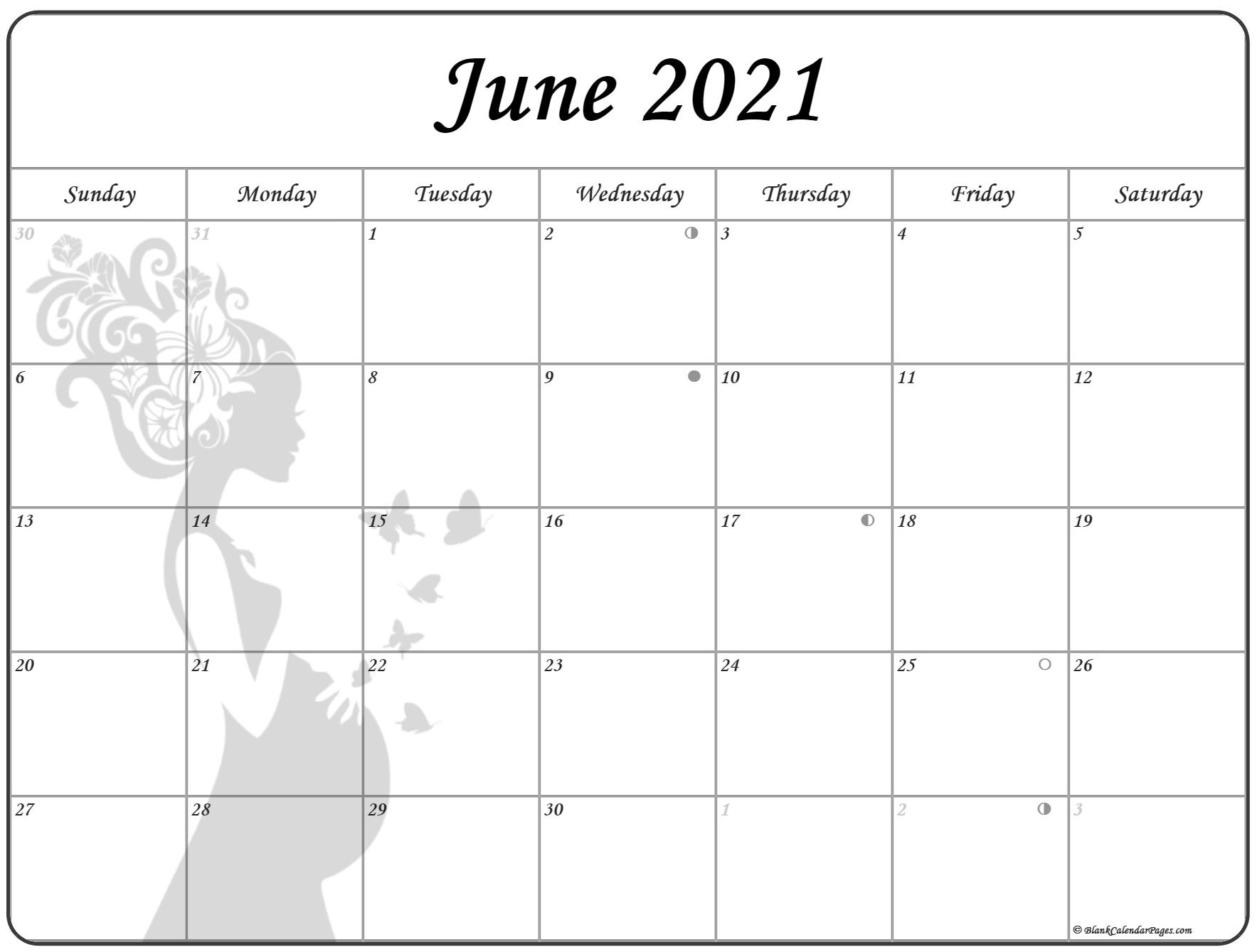 Collection Of June 2021 Photo Calendars With Image Filters