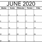 Free Printable June 2020 Calendar Templates With Notes