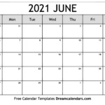 June 2021 Calendar Free Blank Printable Templates