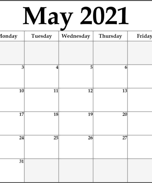 May 2021 Calendar Free Printable Calendar Templates