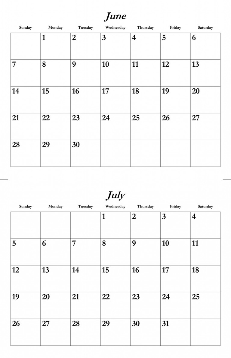 2015 June And July Calendar Google Search July