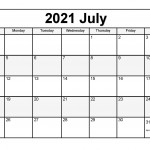 Free July 2021 Printable Calendar Monthly Templates